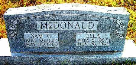 MCDONALD, ELLA - Boone County, Arkansas | ELLA MCDONALD - Arkansas Gravestone Photos