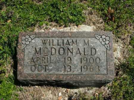 MCDONALD, WILLIAM M. - Boone County, Arkansas   WILLIAM M. MCDONALD - Arkansas Gravestone Photos