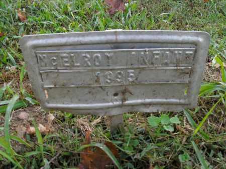 MCELROY, INFANT - Boone County, Arkansas   INFANT MCELROY - Arkansas Gravestone Photos