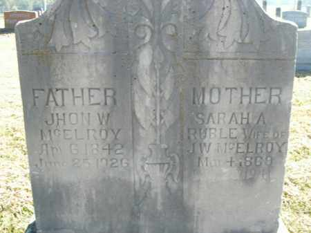 RUBLE MCELROY, SARAH A. - Boone County, Arkansas | SARAH A. RUBLE MCELROY - Arkansas Gravestone Photos