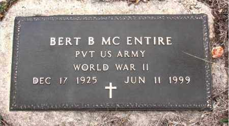 MCENTIRE  (VETERAN WWII), BERT B - Boone County, Arkansas | BERT B MCENTIRE  (VETERAN WWII) - Arkansas Gravestone Photos