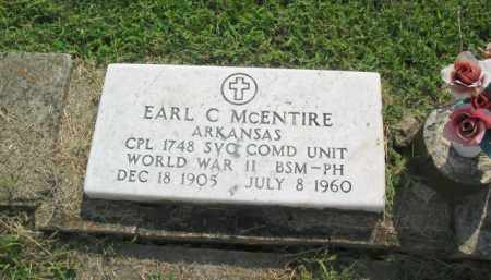 MCENTIRE  (VETERAN WWII), EARL C. - Boone County, Arkansas | EARL C. MCENTIRE  (VETERAN WWII) - Arkansas Gravestone Photos