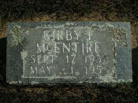 MCENTIRE, KIRBY F. - Boone County, Arkansas   KIRBY F. MCENTIRE - Arkansas Gravestone Photos