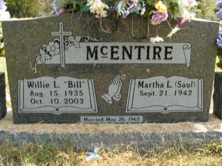 MCENTIRE, WILLIE L. - Boone County, Arkansas   WILLIE L. MCENTIRE - Arkansas Gravestone Photos