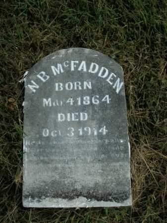 MCFADDEN, N.B. - Boone County, Arkansas | N.B. MCFADDEN - Arkansas Gravestone Photos