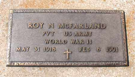 MCFARLAND  (VETERAN WWII), ROY N - Boone County, Arkansas | ROY N MCFARLAND  (VETERAN WWII) - Arkansas Gravestone Photos