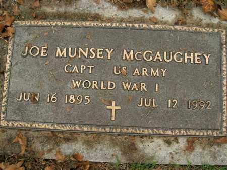 MCGAUGHEY  (VETERAN WWI), JOE MUNSEY - Boone County, Arkansas | JOE MUNSEY MCGAUGHEY  (VETERAN WWI) - Arkansas Gravestone Photos