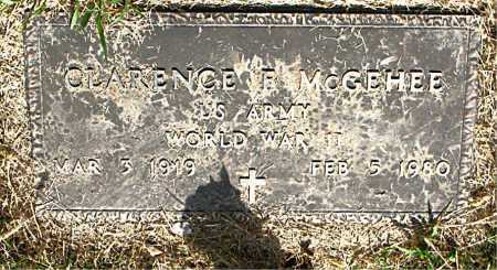 MCGEHEE  (VETERAN WWII), CLARENCE R - Boone County, Arkansas | CLARENCE R MCGEHEE  (VETERAN WWII) - Arkansas Gravestone Photos