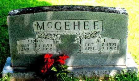 MCGEHEE, LIZZIE - Boone County, Arkansas | LIZZIE MCGEHEE - Arkansas Gravestone Photos