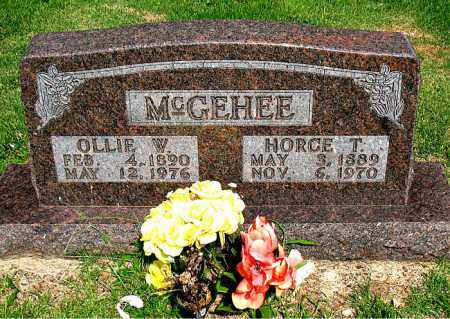 MCGEHEE, OLLIE W. - Boone County, Arkansas | OLLIE W. MCGEHEE - Arkansas Gravestone Photos