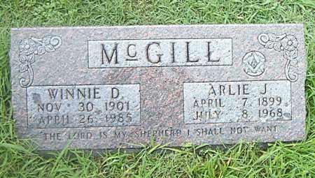 MCGILL, WINNIE  D. - Boone County, Arkansas   WINNIE  D. MCGILL - Arkansas Gravestone Photos