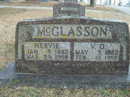 MCGLASSON, NERVIE - Boone County, Arkansas | NERVIE MCGLASSON - Arkansas Gravestone Photos