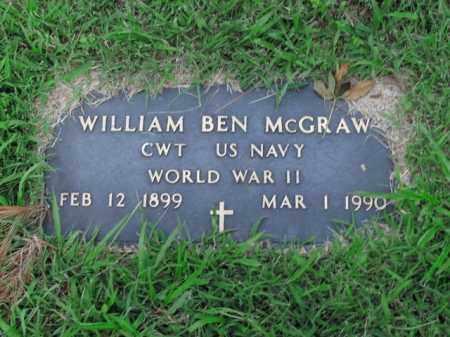 MCGRAW  (VETERAN WWII), WILLIAM BEN - Boone County, Arkansas   WILLIAM BEN MCGRAW  (VETERAN WWII) - Arkansas Gravestone Photos