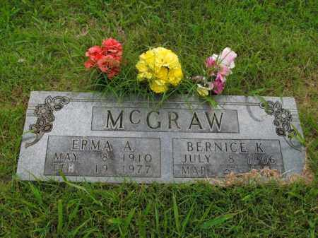 MCGRAW, ERMA A. - Boone County, Arkansas | ERMA A. MCGRAW - Arkansas Gravestone Photos