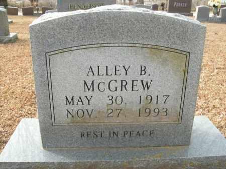 MCGREW, ALLEY BARBER - Boone County, Arkansas | ALLEY BARBER MCGREW - Arkansas Gravestone Photos