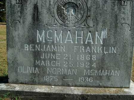MCMAHAN, BENJAMIN FRANKLIN - Boone County, Arkansas | BENJAMIN FRANKLIN MCMAHAN - Arkansas Gravestone Photos