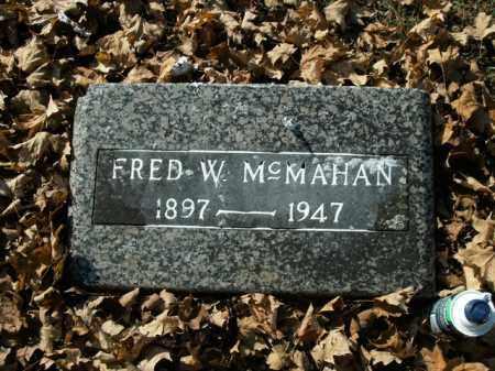 MCMAHAN, FRED W. - Boone County, Arkansas   FRED W. MCMAHAN - Arkansas Gravestone Photos