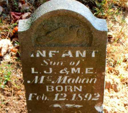MCMAHAN, INFANT SON - Boone County, Arkansas | INFANT SON MCMAHAN - Arkansas Gravestone Photos
