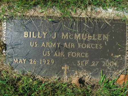 MCMULLEN  (VETERAN), BILLY J - Boone County, Arkansas   BILLY J MCMULLEN  (VETERAN) - Arkansas Gravestone Photos