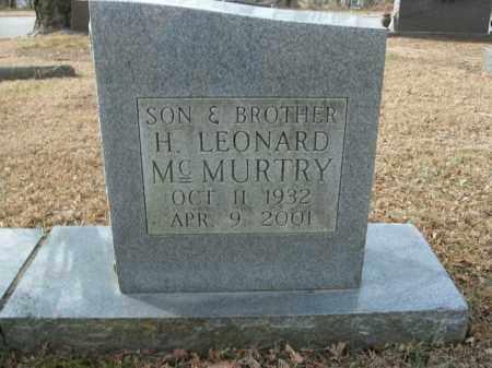 MCMURTRY, H. LEONARD - Boone County, Arkansas | H. LEONARD MCMURTRY - Arkansas Gravestone Photos