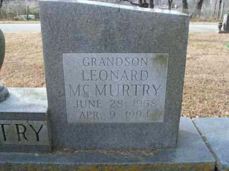 MCMURTRY, LEONARD - Boone County, Arkansas   LEONARD MCMURTRY - Arkansas Gravestone Photos
