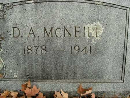 MCNEILL, D.A. - Boone County, Arkansas   D.A. MCNEILL - Arkansas Gravestone Photos