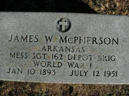 MCPHERSON  (VETERAN WWI), JAMES W - Boone County, Arkansas | JAMES W MCPHERSON  (VETERAN WWI) - Arkansas Gravestone Photos