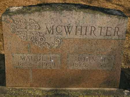 MCWHIRTER, MAUDE F. - Boone County, Arkansas | MAUDE F. MCWHIRTER - Arkansas Gravestone Photos