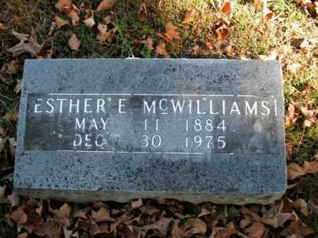 MCWILLIAMS, ESTHER E. - Boone County, Arkansas | ESTHER E. MCWILLIAMS - Arkansas Gravestone Photos