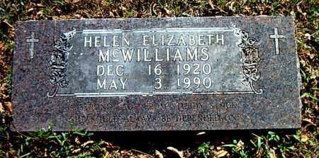 MCWILLIAMS, HELEN ELIZABETH - Boone County, Arkansas   HELEN ELIZABETH MCWILLIAMS - Arkansas Gravestone Photos