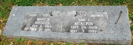 MCALPIN, SAM LEE - Boone County, Arkansas | SAM LEE MCALPIN - Arkansas Gravestone Photos