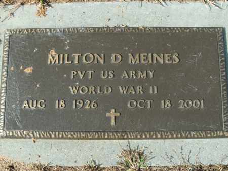 MEINES  (VETERAN WWII), MILTON D - Boone County, Arkansas | MILTON D MEINES  (VETERAN WWII) - Arkansas Gravestone Photos