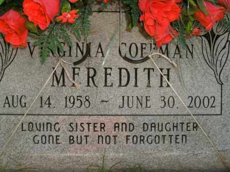 COFFMAN MEREDITH, VIRGINIA - Boone County, Arkansas | VIRGINIA COFFMAN MEREDITH - Arkansas Gravestone Photos