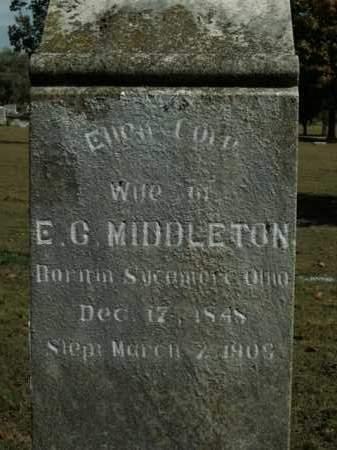 MIDDLETON, ELLEN COLA - Boone County, Arkansas | ELLEN COLA MIDDLETON - Arkansas Gravestone Photos