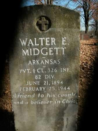 MIDGETT  (VETERAN), WALTER E - Boone County, Arkansas   WALTER E MIDGETT  (VETERAN) - Arkansas Gravestone Photos