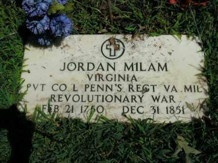 MILAM  (VETERAN RW), JORDAN - Boone County, Arkansas | JORDAN MILAM  (VETERAN RW) - Arkansas Gravestone Photos