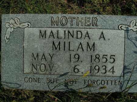 MILAM, MALINDA A. - Boone County, Arkansas   MALINDA A. MILAM - Arkansas Gravestone Photos
