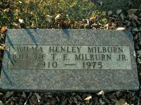 HENLEY MILBURN, WILMA - Boone County, Arkansas | WILMA HENLEY MILBURN - Arkansas Gravestone Photos