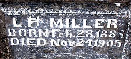 MILLER, LEWIS HENRY - Boone County, Arkansas   LEWIS HENRY MILLER - Arkansas Gravestone Photos