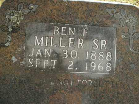 MILLER, SR, BEN F. - Boone County, Arkansas | BEN F. MILLER, SR - Arkansas Gravestone Photos