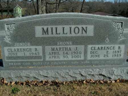 MILLION, CLARENCE BRUNER - Boone County, Arkansas   CLARENCE BRUNER MILLION - Arkansas Gravestone Photos