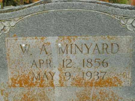 MINYARD, W.A. - Boone County, Arkansas   W.A. MINYARD - Arkansas Gravestone Photos