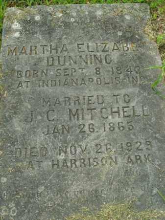 MITCHELL, MARTHA ELIZABETH - Boone County, Arkansas | MARTHA ELIZABETH MITCHELL - Arkansas Gravestone Photos
