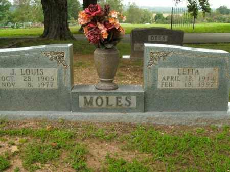 MOLES, J. LOUIS - Boone County, Arkansas   J. LOUIS MOLES - Arkansas Gravestone Photos