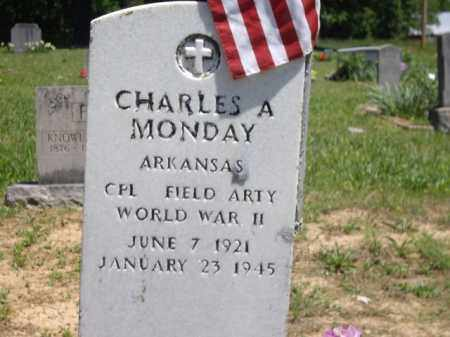 MONDAY (VETERAN WWII), CHARLES A. - Boone County, Arkansas | CHARLES A. MONDAY (VETERAN WWII) - Arkansas Gravestone Photos