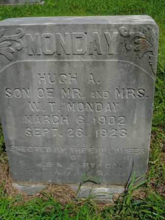 MONDAY, HUGH A. - Boone County, Arkansas   HUGH A. MONDAY - Arkansas Gravestone Photos