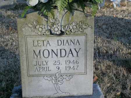 MONDAY, LETA DIANA - Boone County, Arkansas | LETA DIANA MONDAY - Arkansas Gravestone Photos
