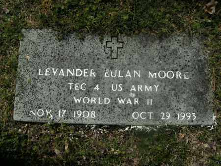 MOORE  (VETERAN WWII), LEVANDER EULAN - Boone County, Arkansas | LEVANDER EULAN MOORE  (VETERAN WWII) - Arkansas Gravestone Photos