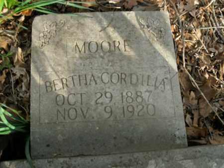 MOORE, BERTHA CORDILIA - Boone County, Arkansas   BERTHA CORDILIA MOORE - Arkansas Gravestone Photos