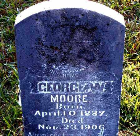 MOORE, GEORGE W. - Boone County, Arkansas | GEORGE W. MOORE - Arkansas Gravestone Photos
